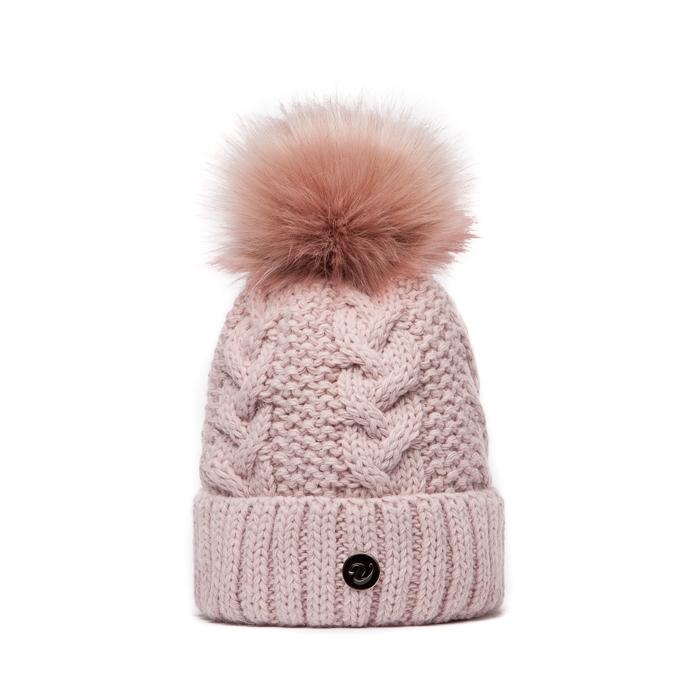 7d71d1e63ec Růžová pletená čepice Veilo s růžovou bambulí - Svět shopaholiků.cz