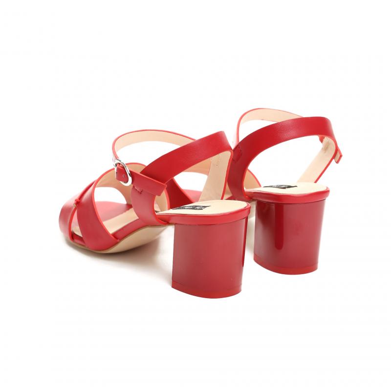 b22b8be8c67bc Dámské červené sandály na podpatku Florence 1498 - Svět shopaholiků.cz