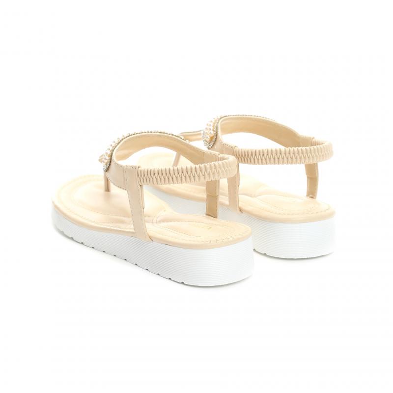 04ec71cc12d1 Dámské béžové sandály Pink 4147 - Svět shopaholiků.cz