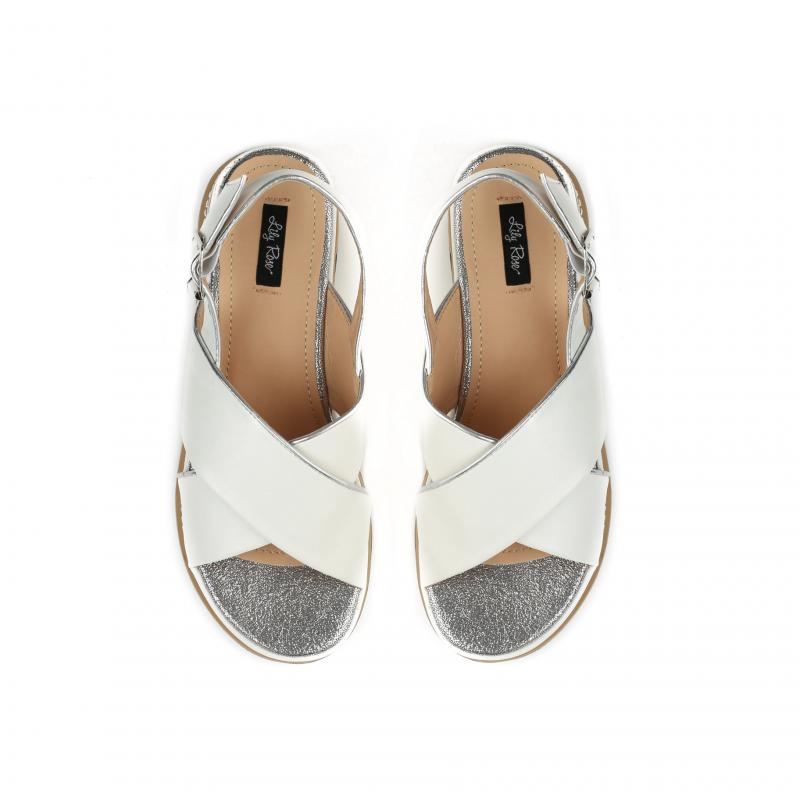 112cd6053aaa Dámské bílé sandály na platformě Silvia 9212 - Svět shopaholiků.cz