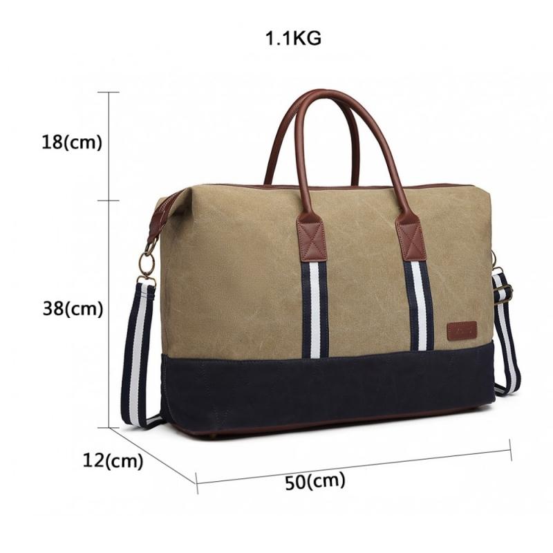 c97748de301 Khaki cestovní taška Abba 6836 - Svět shopaholiků.cz