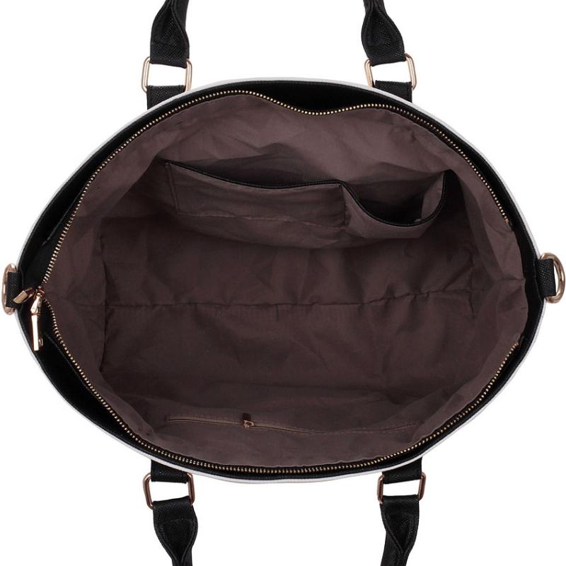 Dámská kabelka Jade 0085 černobílá - Svět shopaholiků.cz 3ffa5aa497